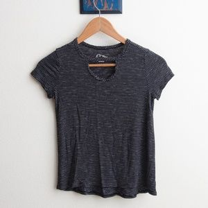 Art Class black and white striped tee shirt